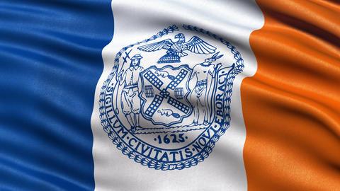 New York City flag seamless loop Animation