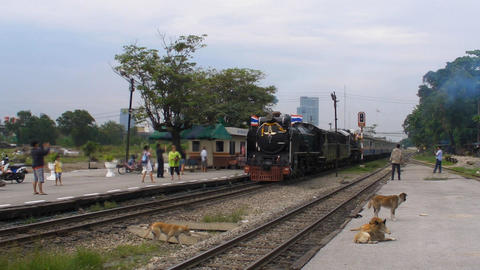 steam locomotive operation in Thailand Live Action