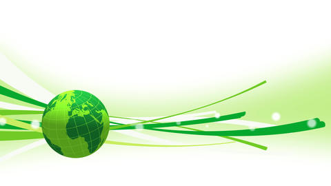 Earth globe popup animation with some stripes or particles for news intro After Effects Template