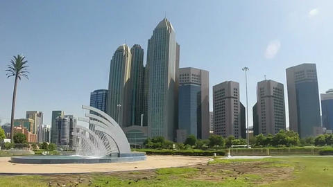 Abu Dhabi City - capital and second most populous city in United Arab Emirates Footage