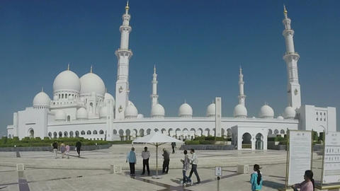 Sheikh Zayed Grand Mosque in Abu Dhabi, UAE Footage