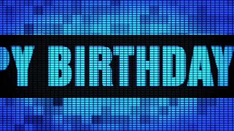 6th Happy Birthday Front Text Scrolling LED Wall Pannel Display Sign Board Live Action