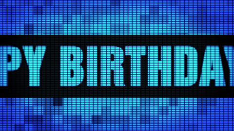 90th Happy Birthday Front Text Scrolling LED Wall Pannel... Stock Video Footage