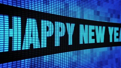 Happy New Year 2024 Side Text Scrolling LED Wall Pannel Display Sign Board Live Action