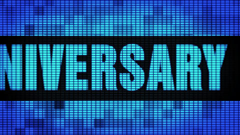4th Anniversary Front Text Scrolling LED Wall Pannel Display Sign Board GIF