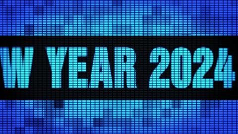 Happy New Year 2024 Front Text Scrolling LED Wall Pannel Display Sign Board Live Action