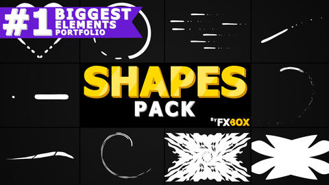 Cartoon Shapes Pack Premiere Pro Template