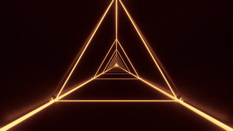 abstract stylish gold golden wireframe triangle design with nice reflections Animation