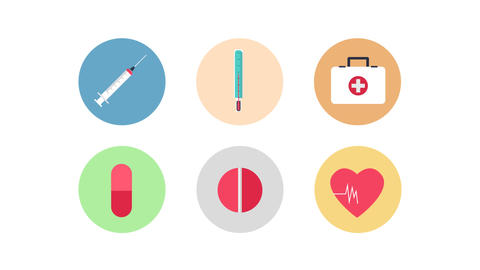 24 Animated-medical-icons After Effects Template