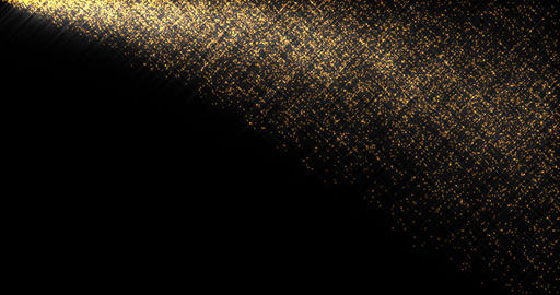 Shining golden sparkles flow abstract footage Live Action