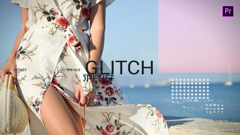 Glitch Opener Premiere Pro Template