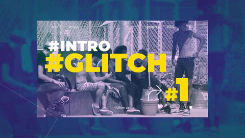 Urban Glitch Promo folder After Effects Template