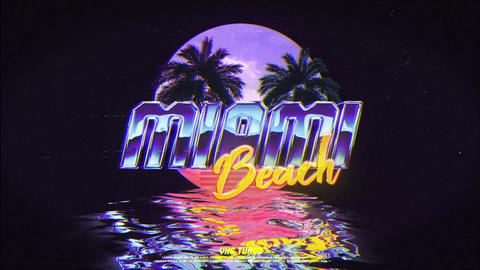 Retro Wave Logo After Effects Template