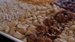 cashew, walnut, peanuts.close-up.the camera moves around this to the left ライブ動画