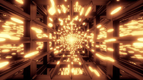 glowing golden particle background wallpaper 3d illustration motion background Animation
