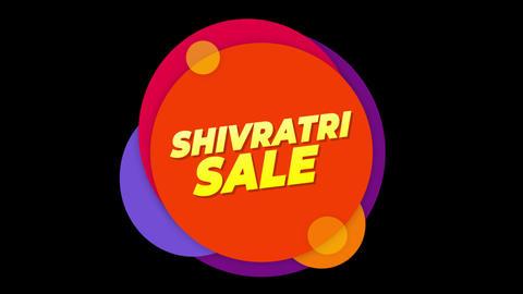 Shivratri Sale Text Sticker Colorful Sale Popup Animation Footage