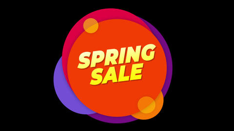 Spring sale Text Sticker Colorful Sale Popup Animation Live Action