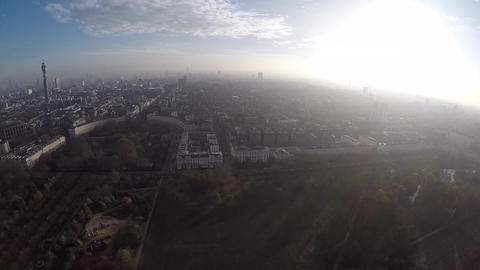 Aerial view of West End Footage