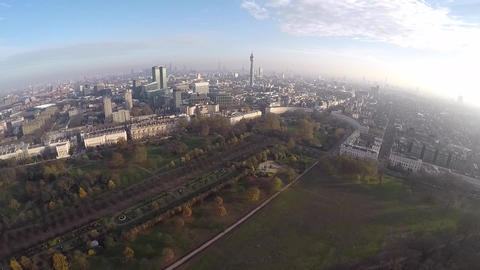 Aerial view of London Live Action