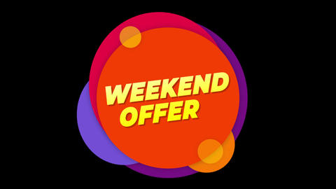 Weekend Offer Text Sticker Colorful Sale Popup Animation Live Action