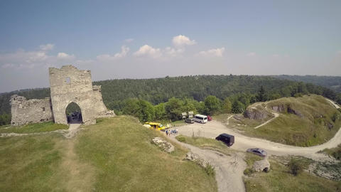 Aerial view of an old fortress Live Action