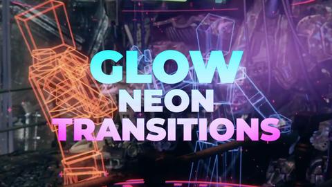 Glow Neon Transitions Premiere Proテンプレート