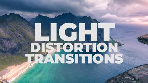 Light Distortion Transitions Premiere Proテンプレート