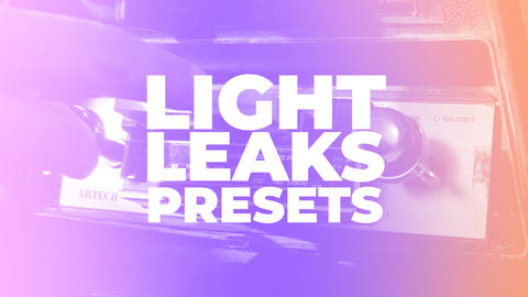 Light Leaks Presets Premiere Proテンプレート