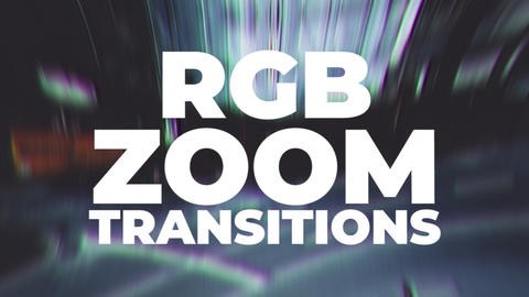 Zoom RGB Transitions Plantillas de Premiere Pro
