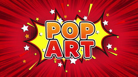 Pop Art Text Pop Art Style Comic Expression Live Action