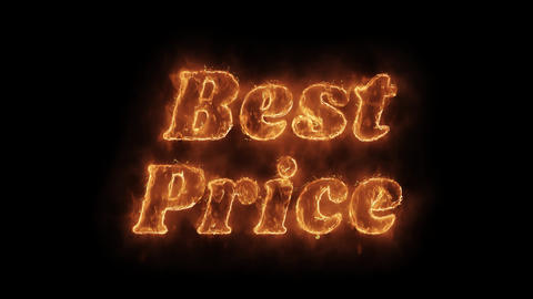 Best Price Word Hot Animated Burning Realistic Fire Flame Loop Live Action