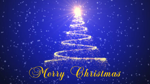 Christmas tree animation background Animation