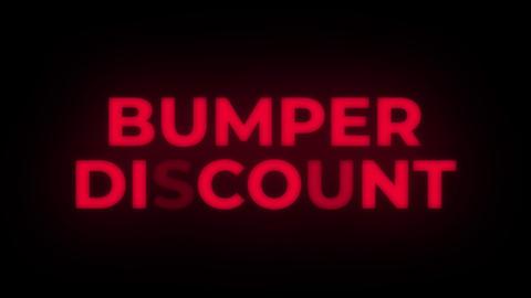 Bumper Discount Text Flickering Display Promotional Loop Live Action