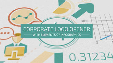 Corporate Logo Opener With Elements Of Infographics After Effects Project
