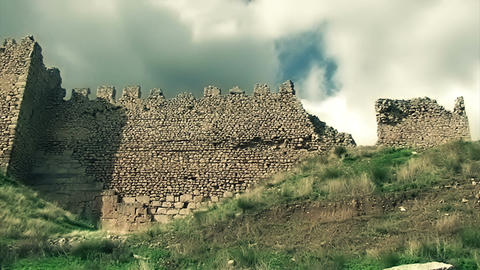 Ancient Castle and Clouds Footage