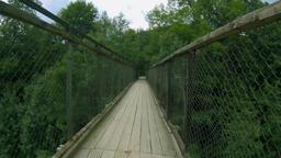 Suspension bridge ride forward GIF
