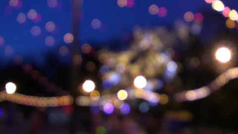 Abstract Holiday Bokeh Lights Background Stock Video Footage