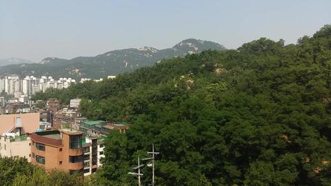 001 서울 안산공원에서 북한산을 바라본 전경 Footage