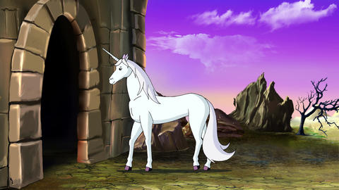 Fairy Tale Unicorn goes to the Castle Animation