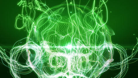 SHA Line Abstract BG Image Green CG動画