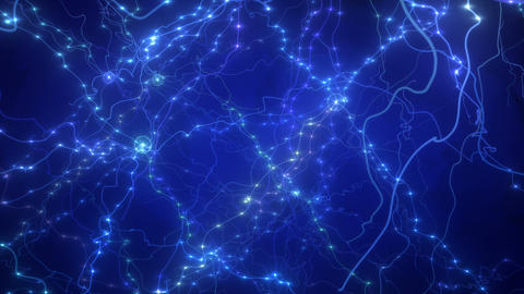 SHA Neuron Image BG Blue 動画素材, ムービー映像素材