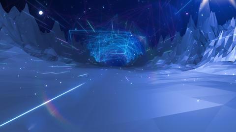 SHA Mountain BG Digital Image Blue Animation