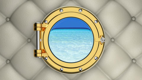 Luxurious yacht porthole 3D animation Animation