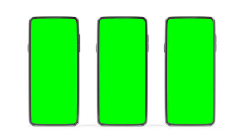 Smartphones with green screens Animation