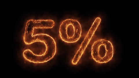 05% Percent Off Word Hot Animated Burning Realistic Fire Flame Loop Live Action