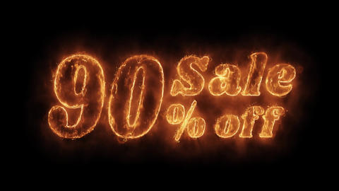 Sale 90% Percent Off Word Hot Animated Burning Realistic Fire Flame Loop Live Action