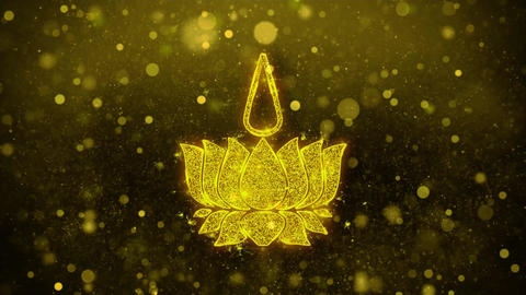 Religious symbol Ayyavazhi symbolism Icon Golden Glitter Shine Particles Live Action