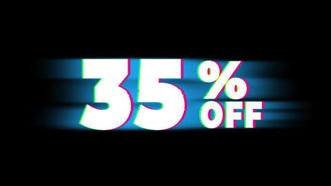 35% Percent Off Text Vintage Glitch Effect Promotion Live Action