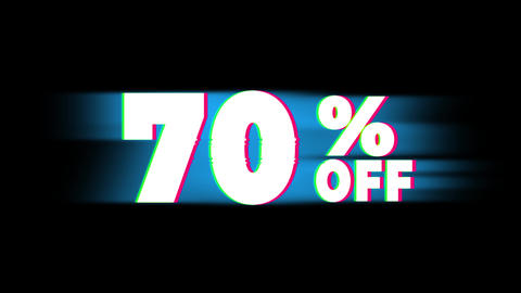 70% Percent Off Text Vintage Glitch Effect Promotion Live Action