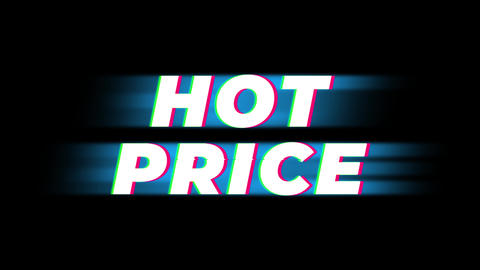 Hot Price Text Vintage Glitch Effect Promotion Live Action
